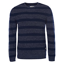 Buy Barbour Port Stripe Cotton Linen Jumper, Navy Online at johnlewis.com