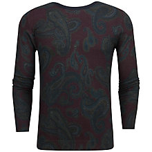 Buy Ted Baker Ossies Paisley Printed Jumper, Dark Red Online at johnlewis.com