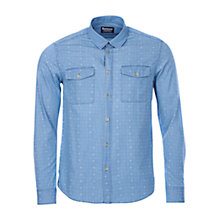 Buy Barbour Rodger Dot Pattern Chambray Shirt, Stone Wash Online at johnlewis.com