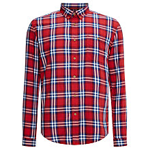 Buy Barbour Britt Check Cotton Shirt, Red Online at johnlewis.com
