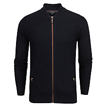 Buy Ted Baker Duk Wool Blend Cardigan, Navy Online at johnlewis.com