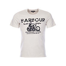 Buy Barbour International Motorcycle T-Shirt, Storm Marl Online at johnlewis.com
