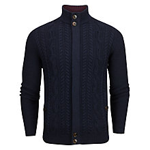 Buy Ted Baker Hofman Cable Knit Cardigan, Navy Online at johnlewis.com