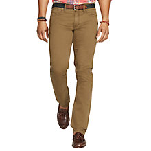 Buy Polo Ralph Lauren Slim Straight Varick Trousers, Botanic Green Online at johnlewis.com