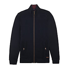 Buy Ted Baker Akapela Zip Jersey Jumper, Navy Online at johnlewis.com