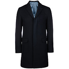 Buy Ted Baker Truxton Colour Block Coat, Navy Online at johnlewis.com