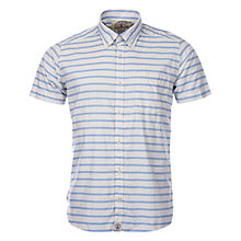 Buy Barbour Old Salt Shirt, Ecru/Blue Online at johnlewis.com