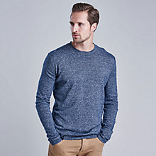 Buy Barbour International Dunsford Crew Neck Jumper, Indigo Online at johnlewis.com