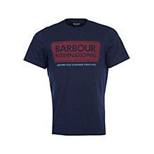 Buy Barbour International Logo Tee, Navy Online at johnlewis.com