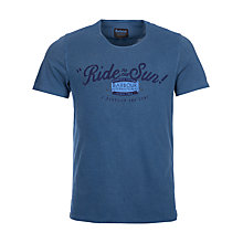 Buy Barbour International Ride to the Sun T-Shirt, Chambray Blue Online at johnlewis.com
