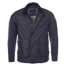 Buy Barbour Waxed Deck Jacket, Navy Online at johnlewis.com