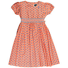 Buy Question Everything Girls' Primose Geometric Print Dress, Red Online at johnlewis.com