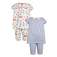 Buy John Lewis Girls' London and Stripe Pyjamas, Pack of 2, Multi Online at johnlewis.com