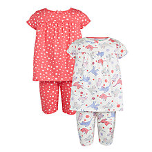Buy John Lewis Girls' Cat and Stars Pyjamas, Pack of 2, Multi Online at johnlewis.com