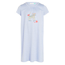 Buy John Lewis Girls' Cat Applique Nightdress, Blue Online at johnlewis.com