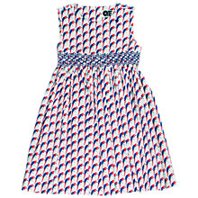 Buy Question Everything Girls' Clara Parrot Dress, White/Multi Online at johnlewis.com
