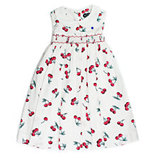 Buy Question Everything Girls' Emma Cherry Dress, White Online at johnlewis.com