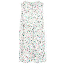 Buy John Lewis Girls' Bee Print Nightdress, White/Blue Online at johnlewis.com