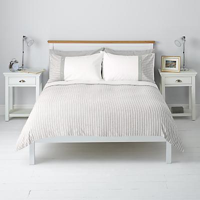 John Lewis Textured Stripe Duvet Cover and Pillowcase Set