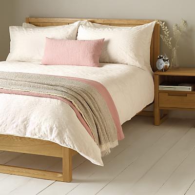 John Lewis Wave Pleats Duvet Cover and Pillowcase Set, White