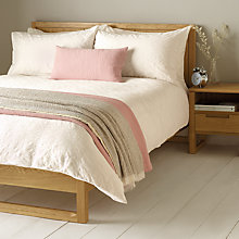 Buy John Lewis Wave Pleats Duvet Cover and Pillowcase Set, White Online at johnlewis.com