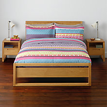 Buy John Lewis Sanches Duvet Cover and Pillowcase Set, Pink Online at johnlewis.com