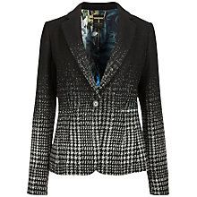 Buy Ted Baker Ilca Jacquard Herringbone Tailored Jacket, Black Online at johnlewis.com