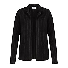 Buy Jigsaw Pinstripe Knit Jacket, Black Online at johnlewis.com