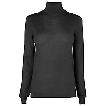 Buy L.K. Bennett Merino Wool Sorrell Knit Jumper, Black Online at johnlewis.com