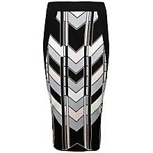 Buy Ted Baker Minilon Skyscraper Knit Midi Skirt, Black Online at johnlewis.com