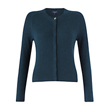 Buy Jigsaw Cashmere Grace Cardigan, Deep Teal Online at johnlewis.com