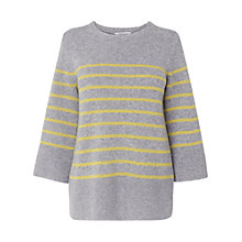 Buy L.K. Bennett Persia Stripe Jumper, Grey Melange Online at johnlewis.com