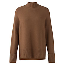 Buy Jigsaw Soft Stretch Polo Jumper, Camel Online at johnlewis.com