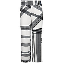 Buy Ted Baker Genee Cropped Printed Trousers, Natural Online at johnlewis.com