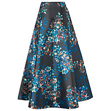 Buy L.K. Bennett Kensal Floral Skirt, Black Online at johnlewis.com