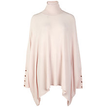 Buy Ted Baker Jalina Poncho Style Roll Neck Jumper, Nude Pink Online at johnlewis.com