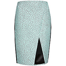 Buy Ted Baker Quanda Textured Asymmetric Midi Skirt, Mint Online at johnlewis.com