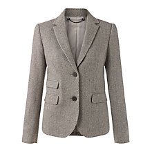 Buy Jigsaw Herringbone Jacket, Pale Grey Online at johnlewis.com