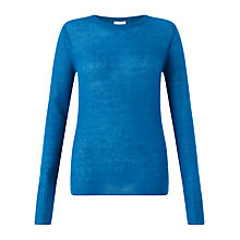 Buy Jigsaw Cashmere Crew-Neck Sweater, Kingfisher Online at johnlewis.com