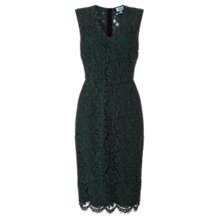 Buy Jigsaw V-Neck Lace Dress, Sage Online at johnlewis.com