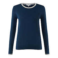 Buy Jigsaw Cashmere Sweater, Airforce Blue Online at johnlewis.com
