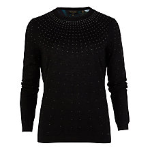 Buy Ted Baker Hot Fix Pearl Sweater, Black Online at johnlewis.com