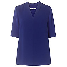 Buy L.K. Bennett Vesta Pleat Neck Top, Regency Online at johnlewis.com