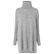 Buy L.K. Bennett Nate Rollneck Jumper, Grey Melange Online at johnlewis.com