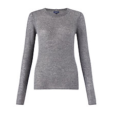 Buy Jigsaw Cloud Cashmere Sweater, Dark Grey Online at johnlewis.com