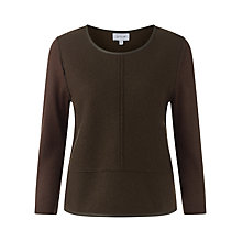 Buy Jigsaw Leather Trim Jumper Online at johnlewis.com