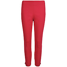 Buy Ted Baker Baylea Zip Detail Split Hem Trousers, Mid Red Online at johnlewis.com