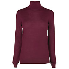 Buy L.K. Bennett Merino Wool Sorrell Knit Jumper, Cherry Online at johnlewis.com