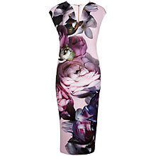 Buy Ted Baker Emaline Sunlit Floral Midi Dress, Pale Pink Online at johnlewis.com