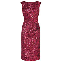Buy L.K. Bennett Quinn Sequin Dress, Cherry Online at johnlewis.com